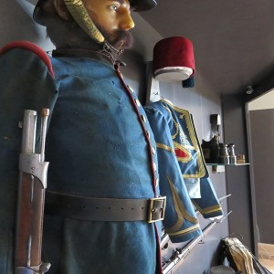 Musee Woerth scenographie vitrine infanterie