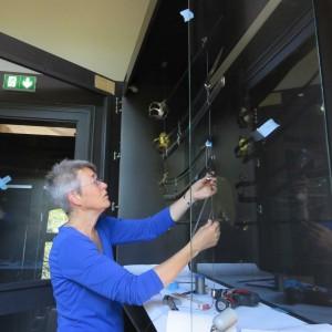 Sabres soclage vitrine